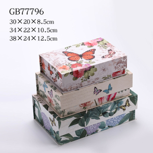 3pcs Nesting Rectangle Flap Gift Boxes