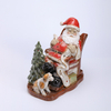 Porcelain Santa on Sleigh with Led Light