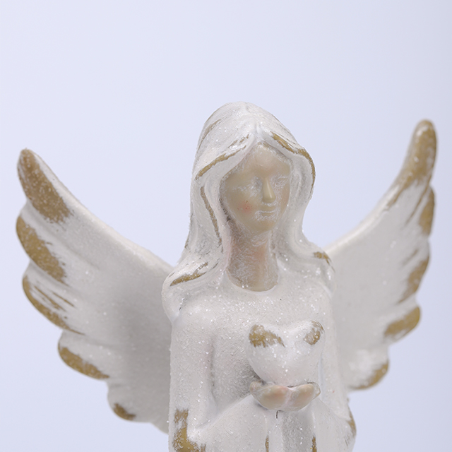 2/A Porcelain Angel in Antique Finish with LED