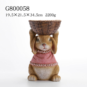 2/A Polyresin Bunny with Container
