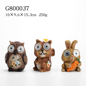 6/A Polyresin Garden Animal with Solar Light