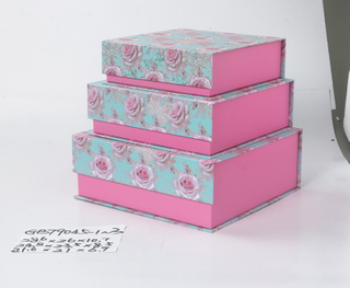 3pcs nesting flap rectangle boxes