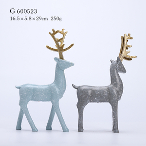 2/A Polyresin Christmas Deer